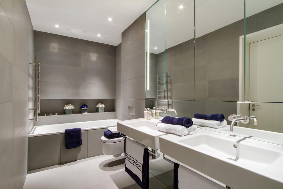 Silvery Grey Bathroom Design