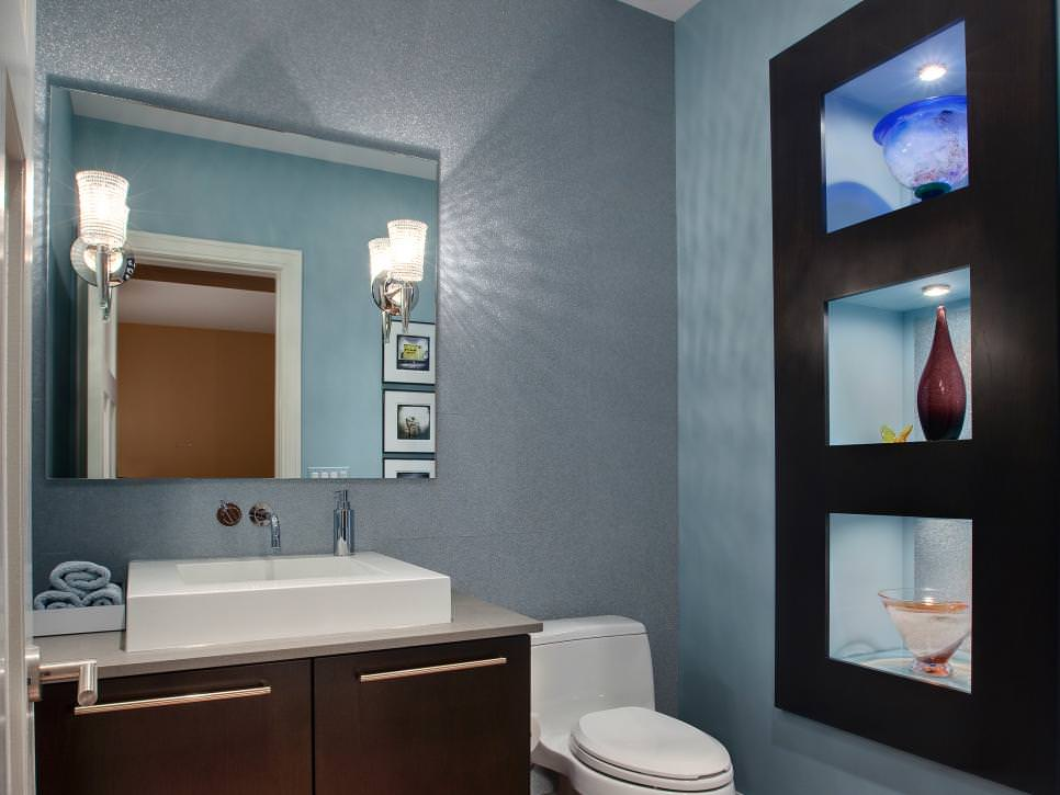 Classy Blue Bathroom Design