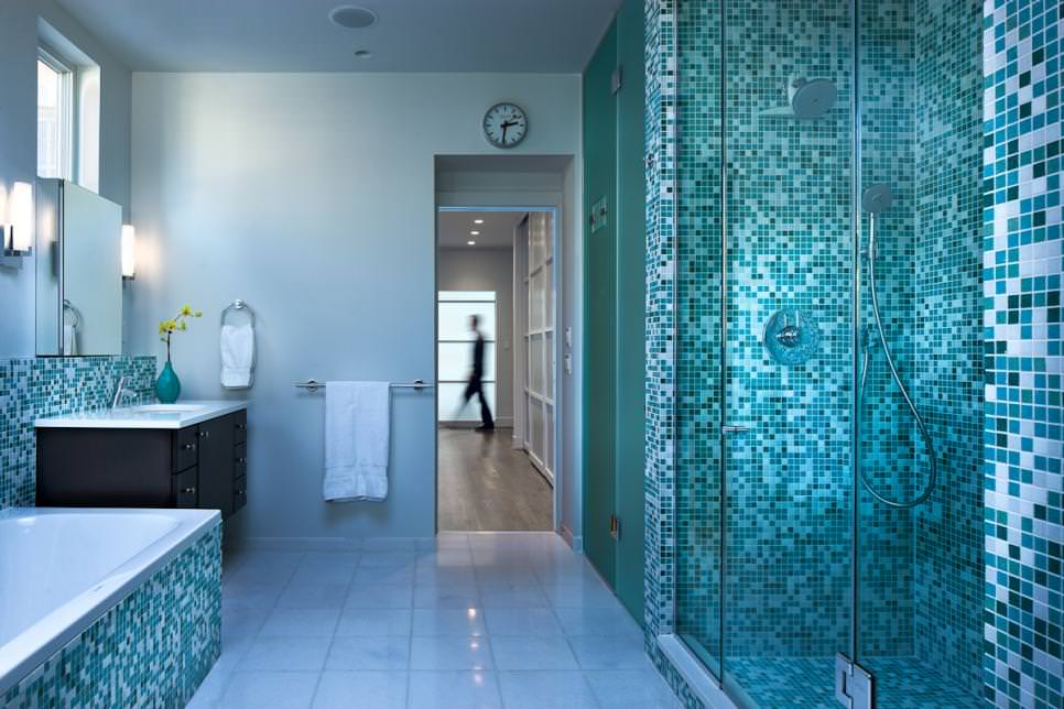 Attrayant Stunning Blue Bathroom Design