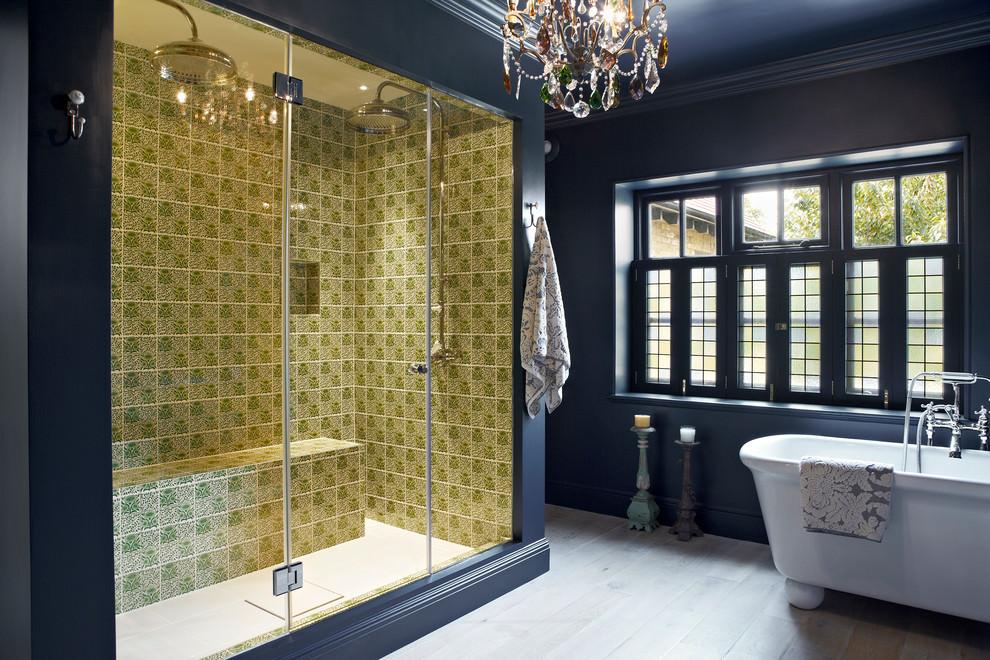 Dark Eclectic Bathroom Design