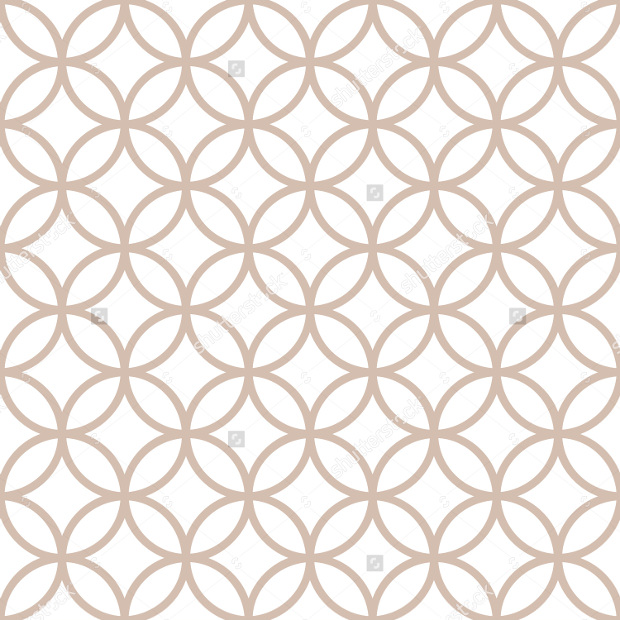 Geometric Patterns on White Background