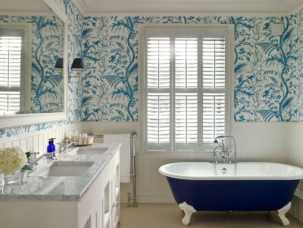 20+ Blue Bathroom Designs, Decorating Ideas | Design ...