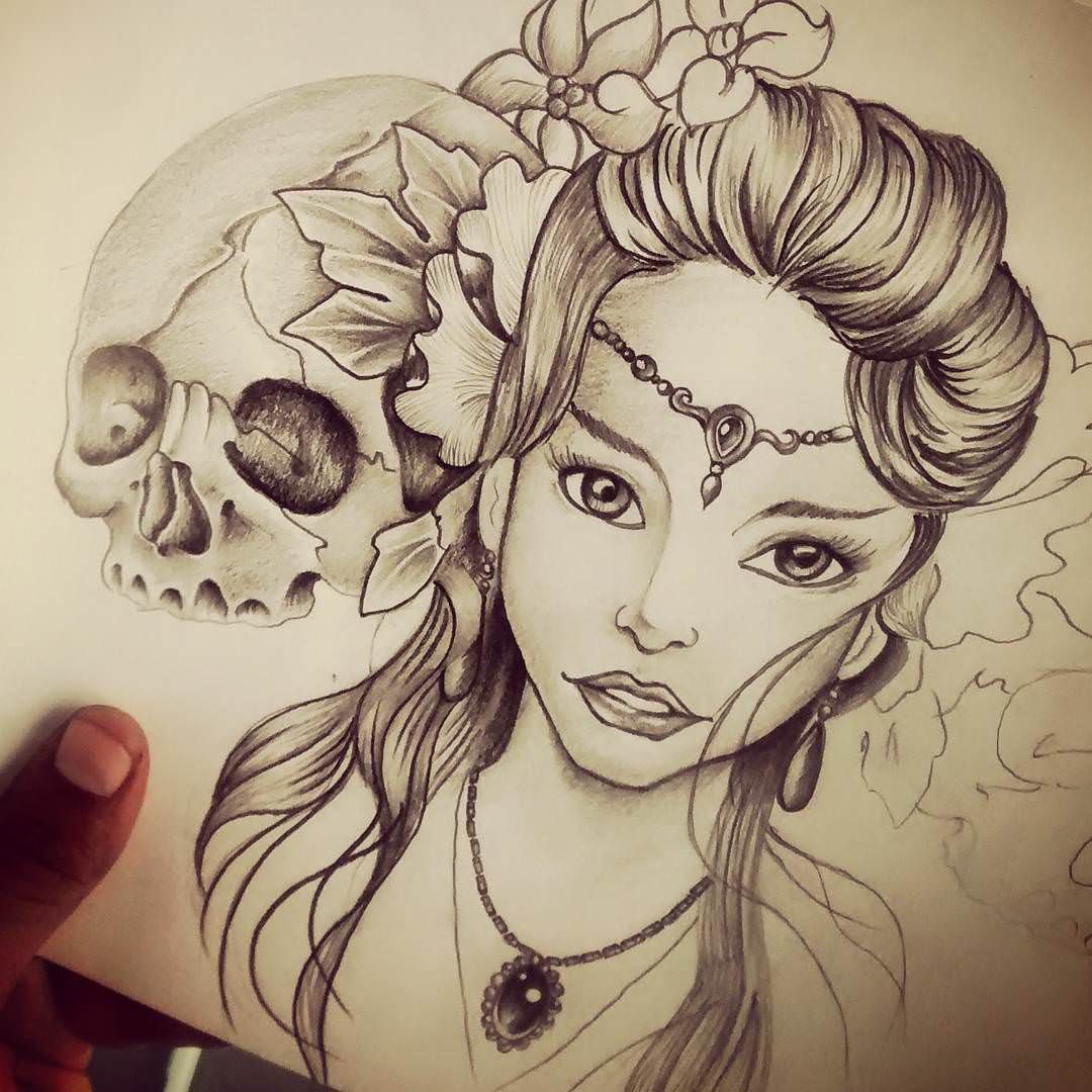 Drawing: 19+ Skull Drawings, Art Ideas