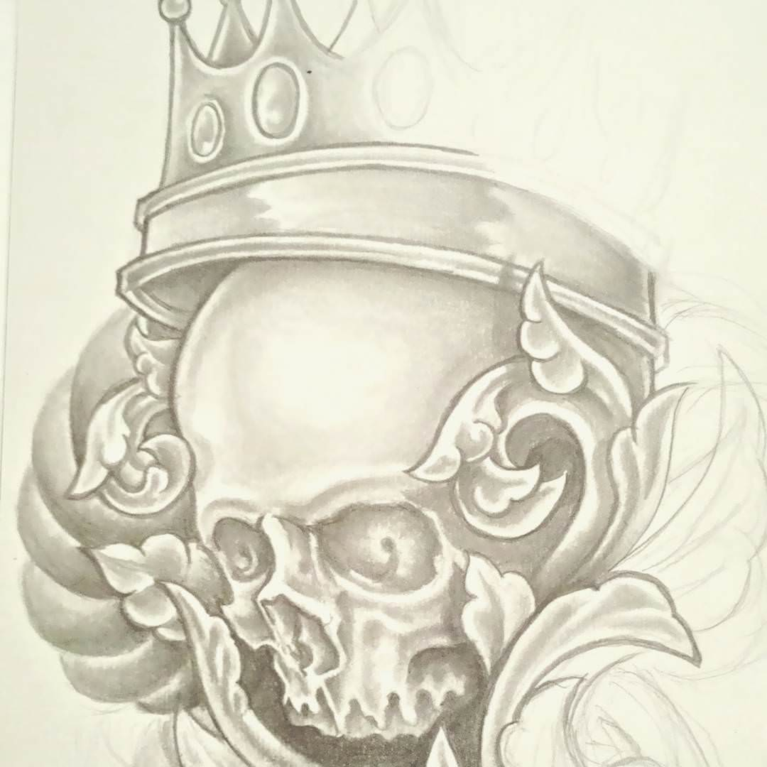 King Skull Drawing