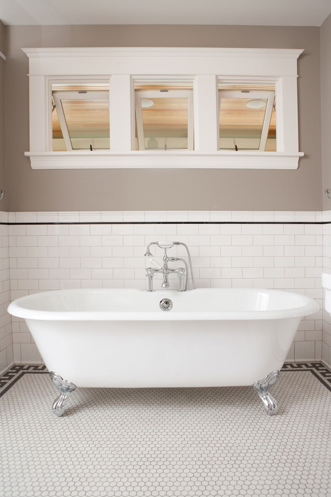 white bathtub tiles