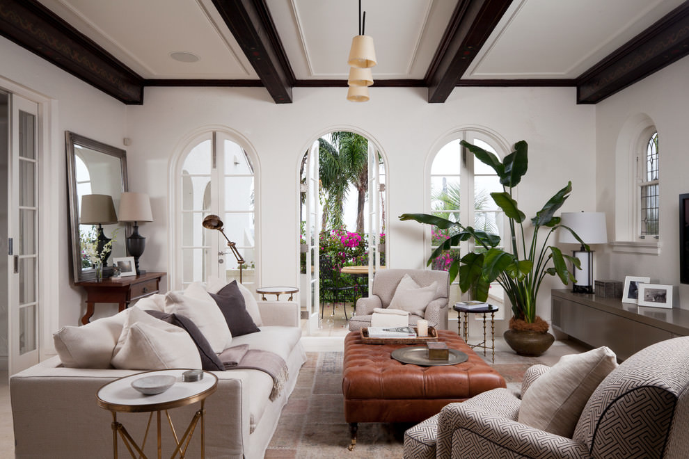 mediterranean small formal living room