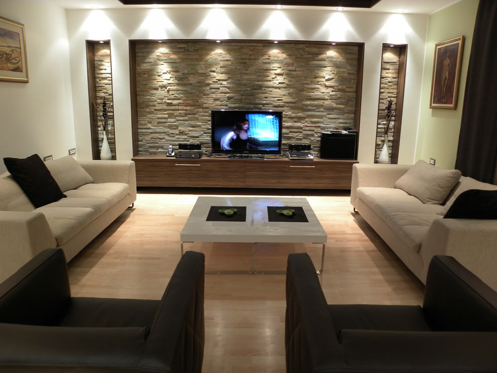 small formal contemporary living room
