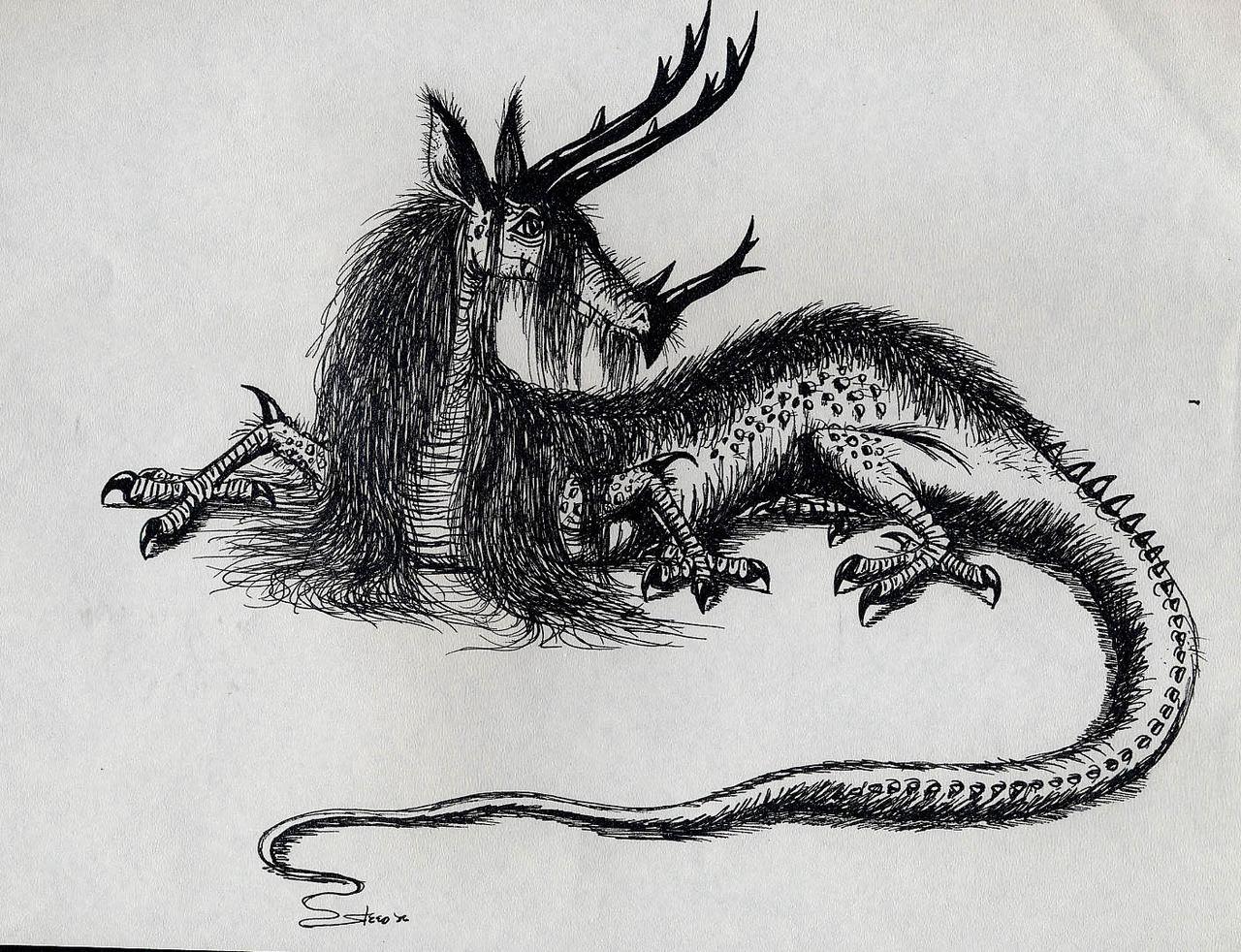 Realistic Dragon Drawings | Design Trends - Premium PSD ...