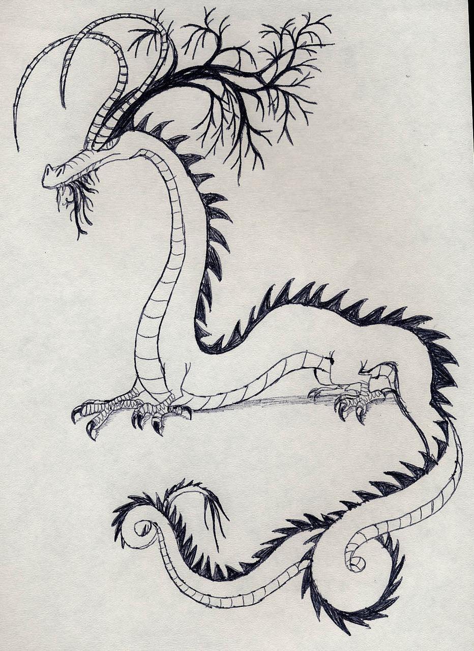 Dragon with Crazy Headgear