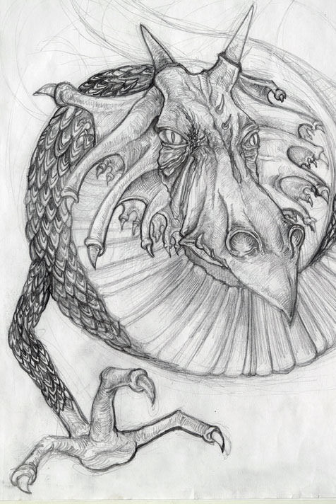 Realistic Dragon Drawings | Design Trends - Premium PSD ...