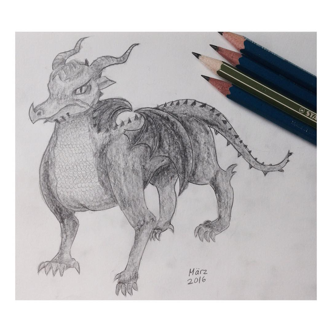 Realistic Dragon Drawi...