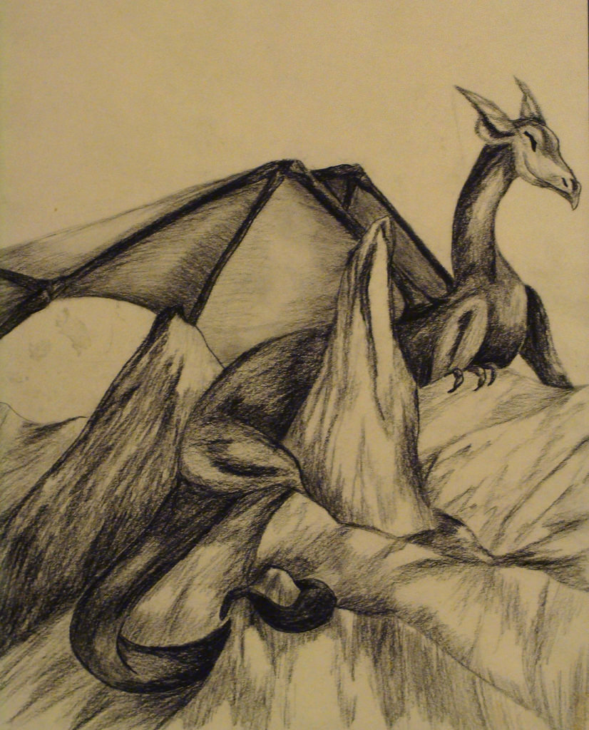 Mountain Dragon Drawing