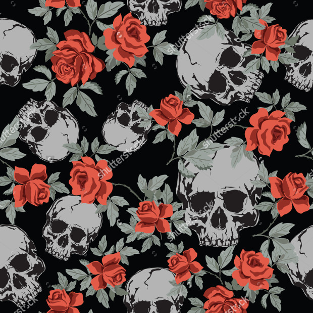 29 Amazing Skull Patterns Textures Backgrounds Images