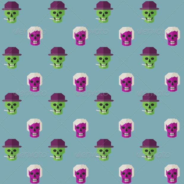 Funny Skull Pattern