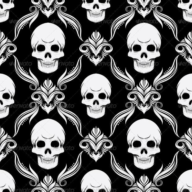 Black Skull Pattern