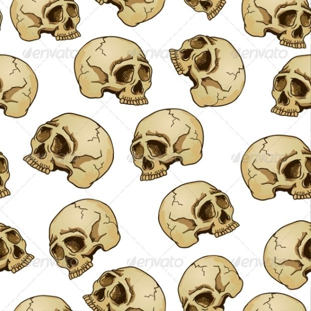 pretty skull design pattern