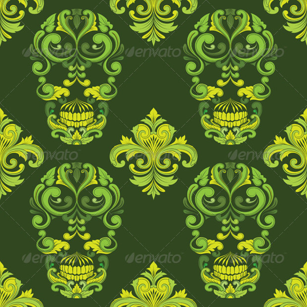 Classic Skull Ornamental Pattern