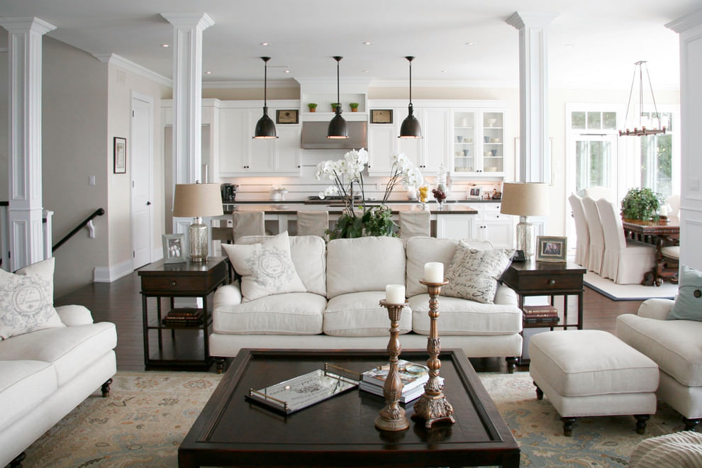 elegant white pottery living room