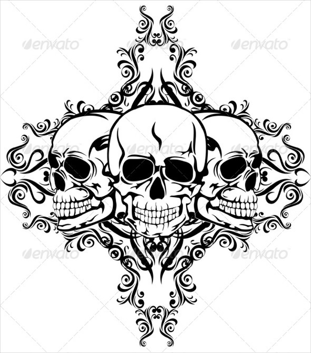 Skull Elegant Pattern