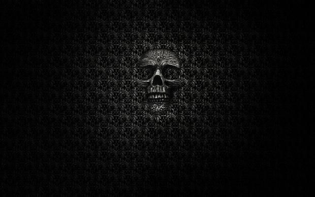 Skull Black Pattern