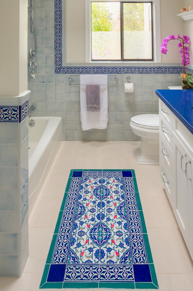 mediterranean bathtub tiles design