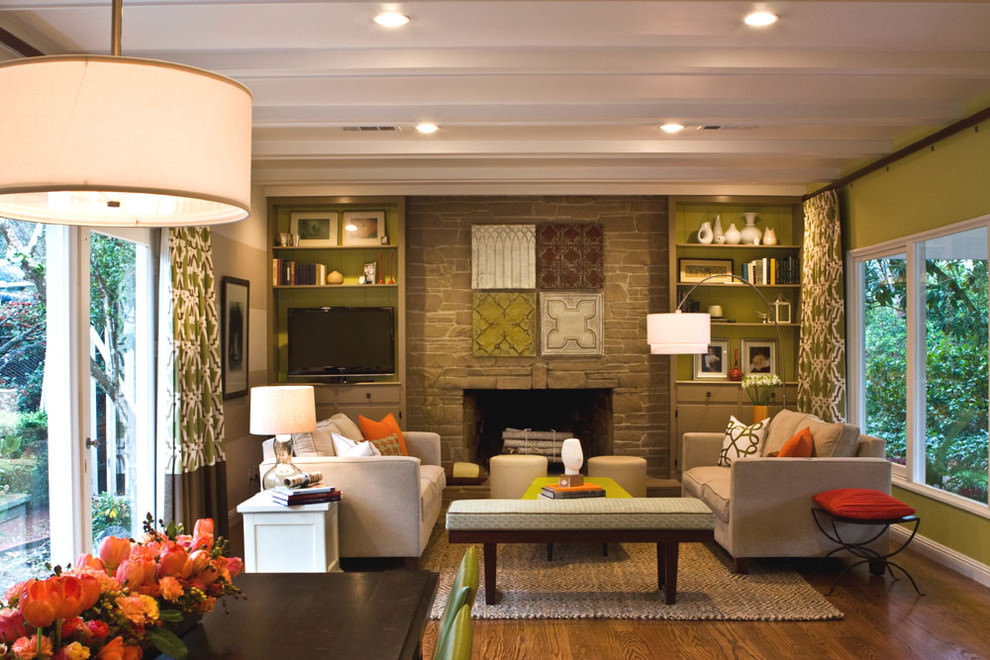 Elegant Pottery Barn Family Room