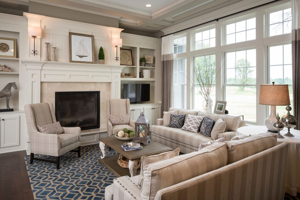 nice pottery barn traditional living room