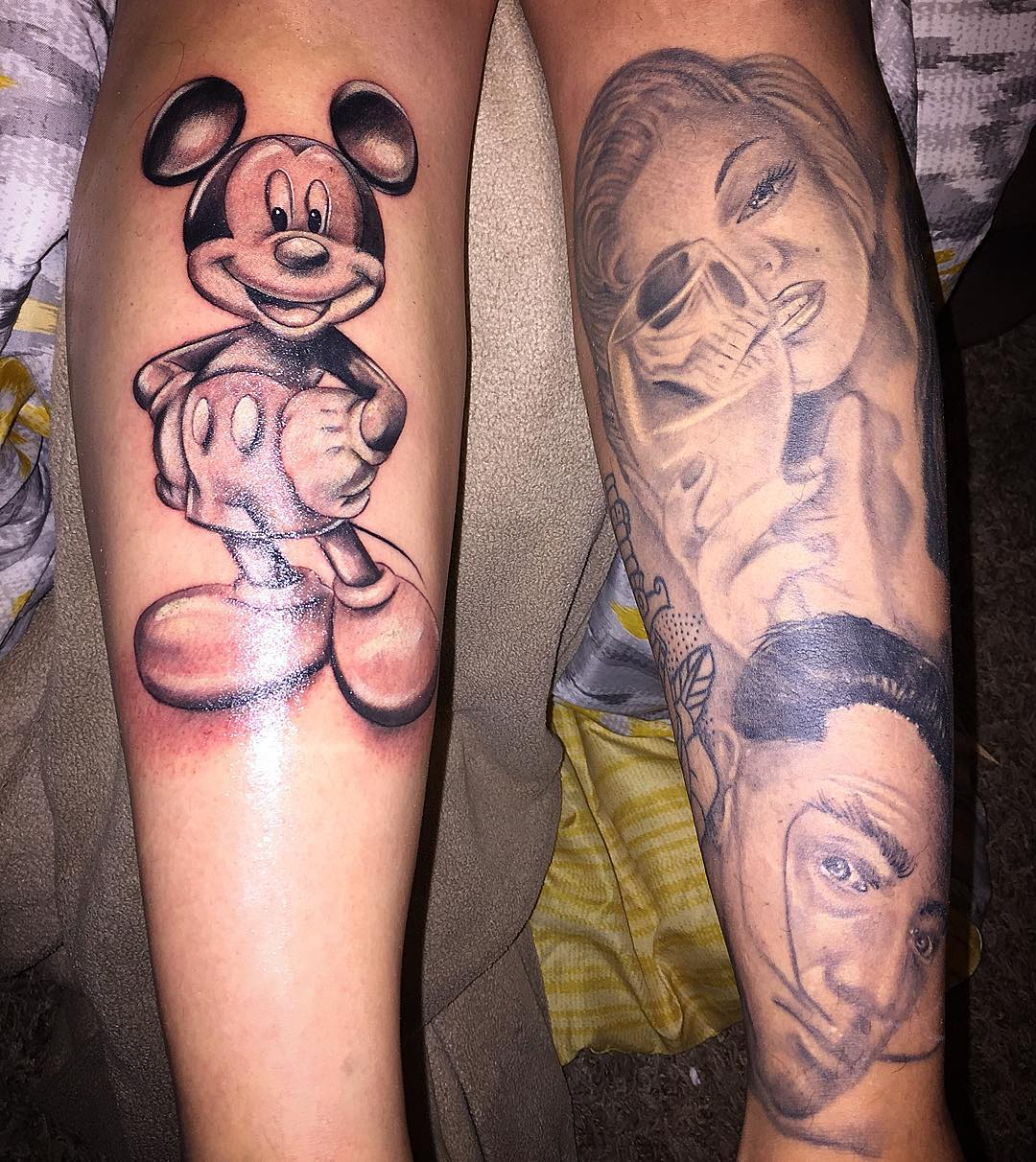 Disney Leg Sleeve Tattoo