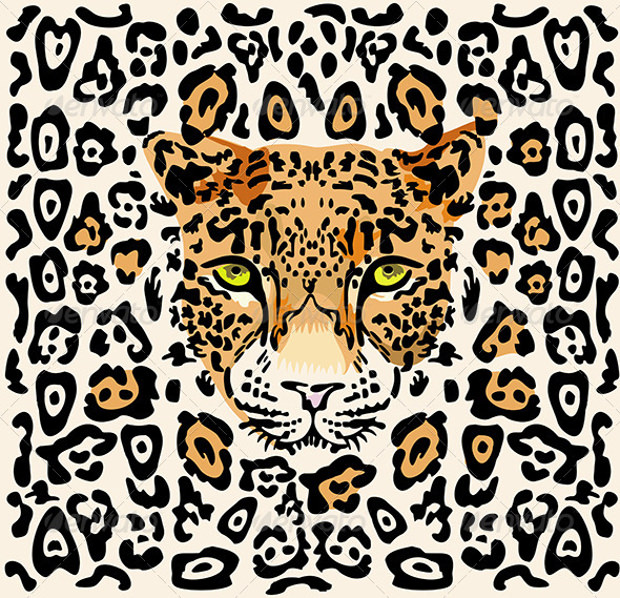 Pattern with Leopard Muzzle