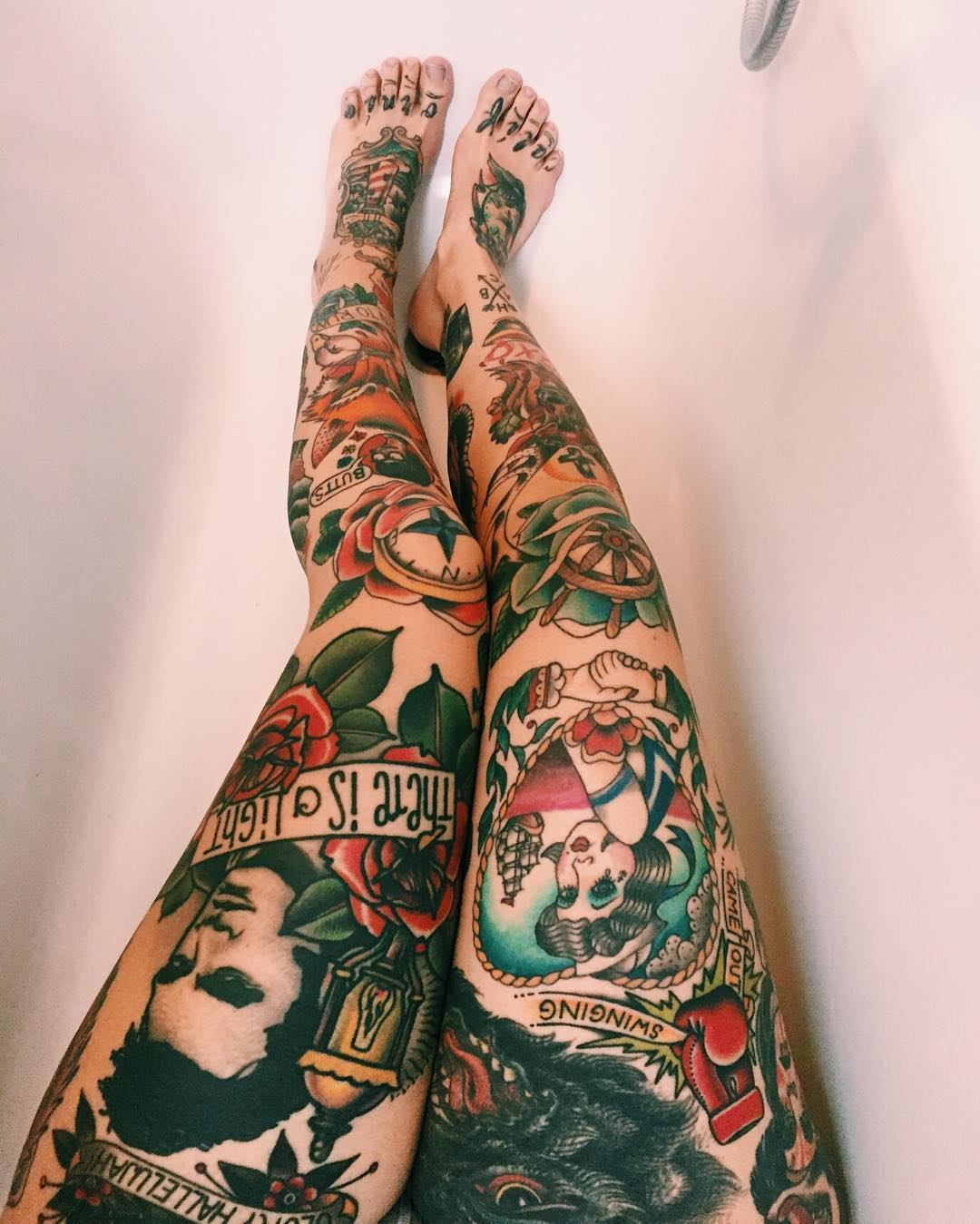 Image Gallery legs full tattoos sleeves