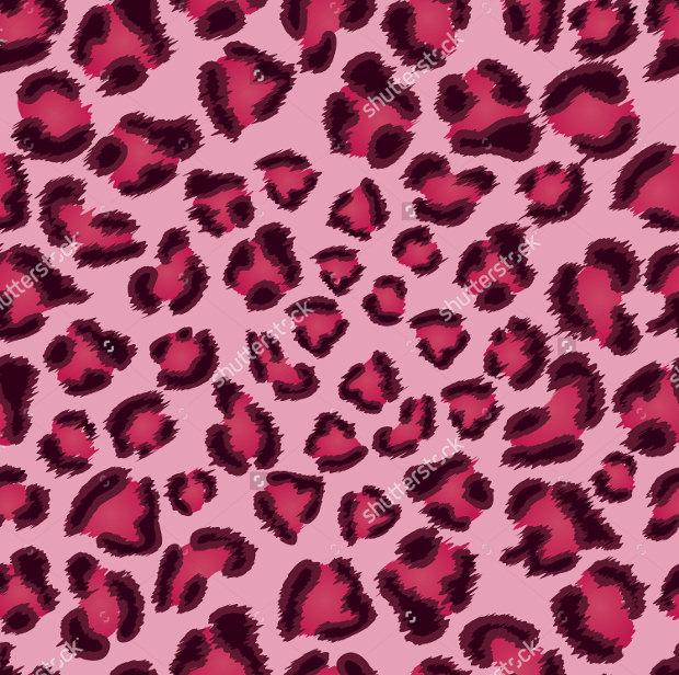 seamless pink leopard pattern
