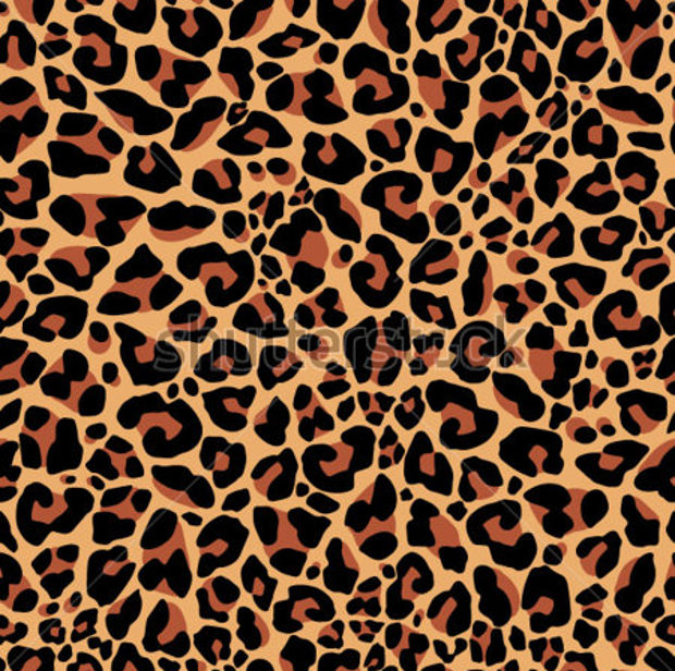 Brown Colored Leopard Pattern
