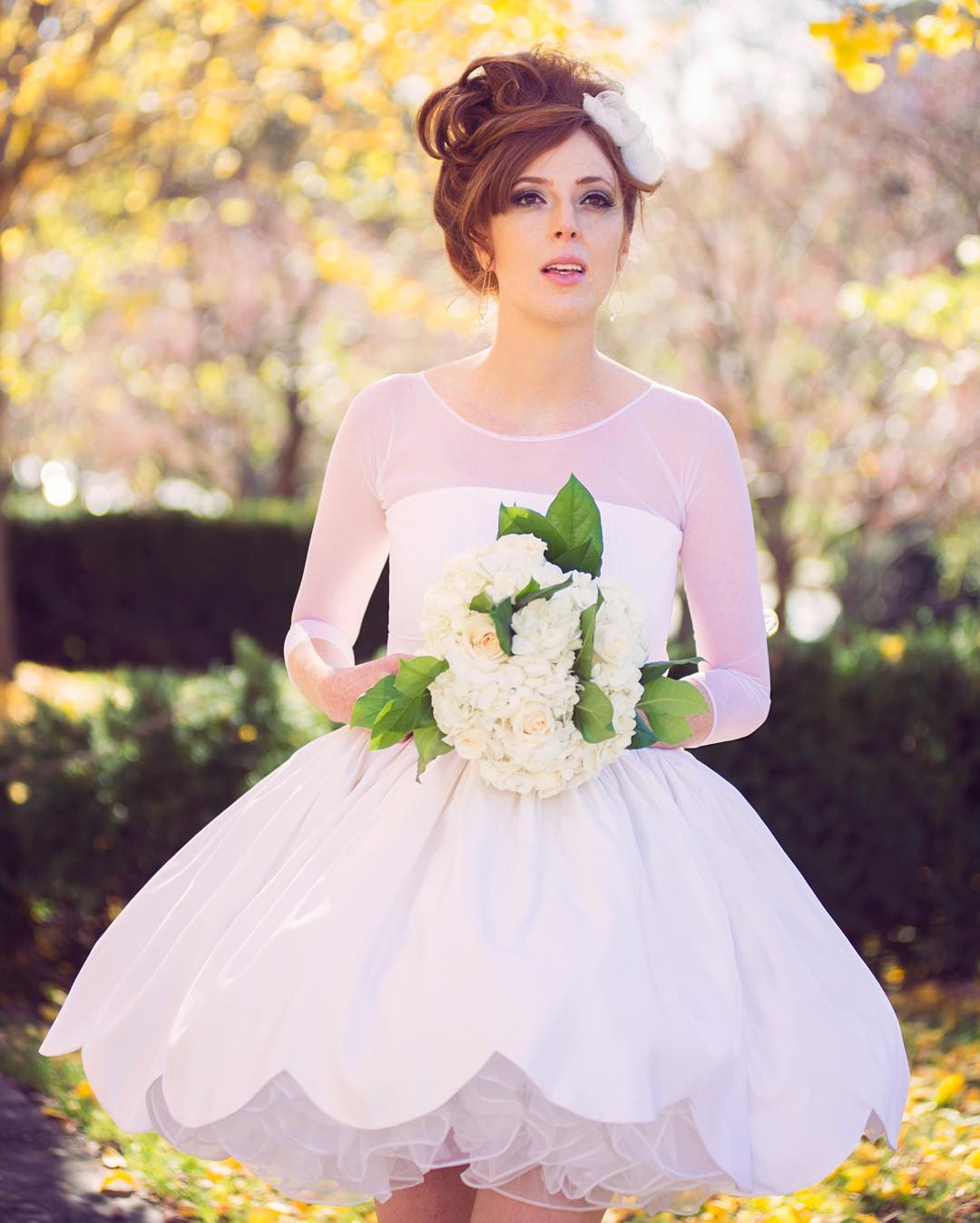 sweet short wedding dress