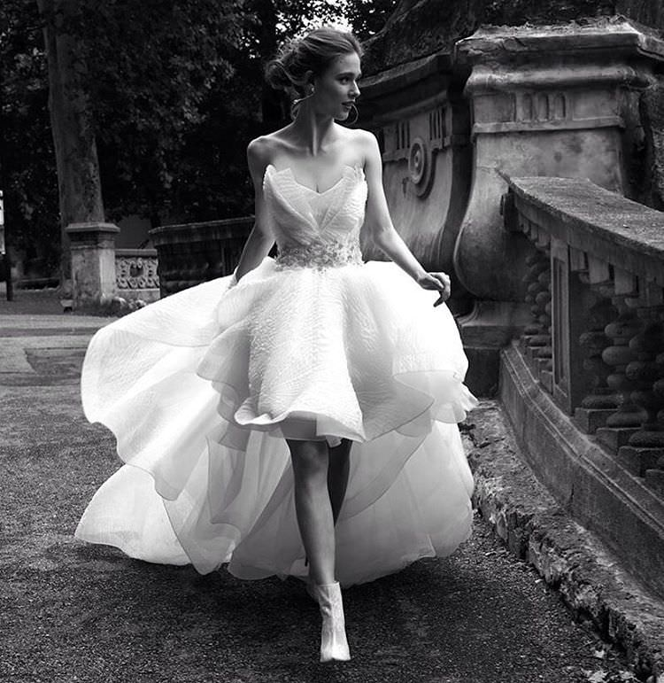 short high low wedding dress