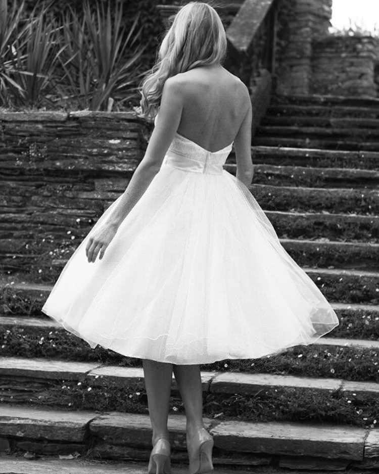 Elegant Short Wedding Dress