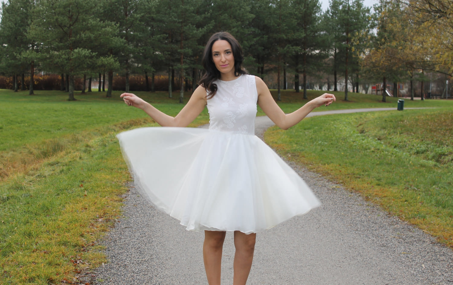 Tulle Short Wedding Dress