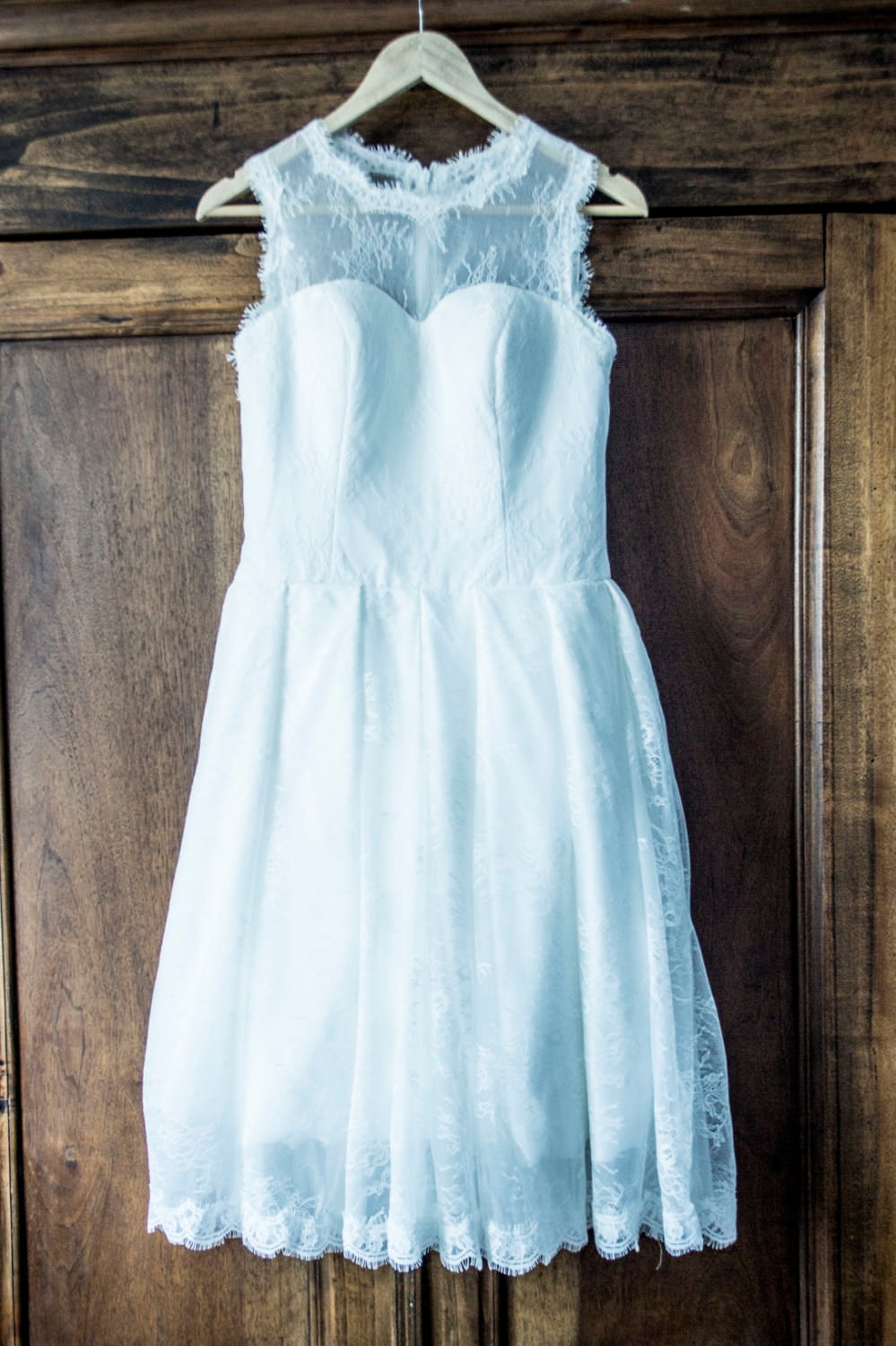 short cute wedding dress