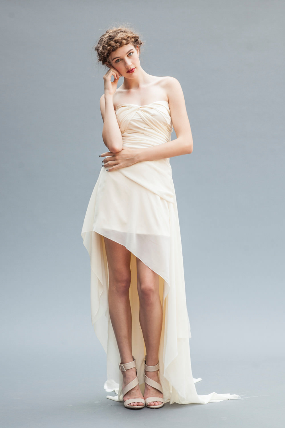 high low short wedding dress