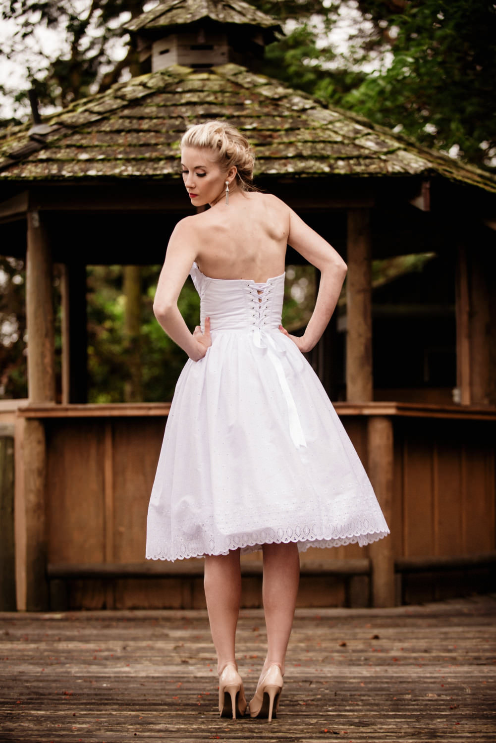 amazing short wedding dress