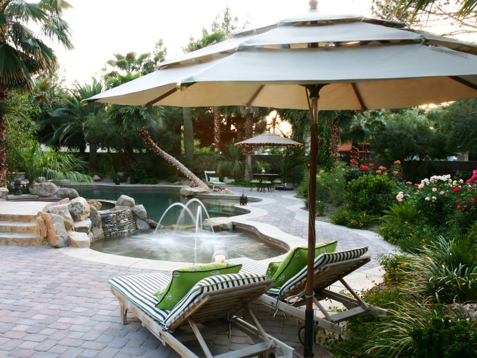 Tropical Pool Side Patio Cover