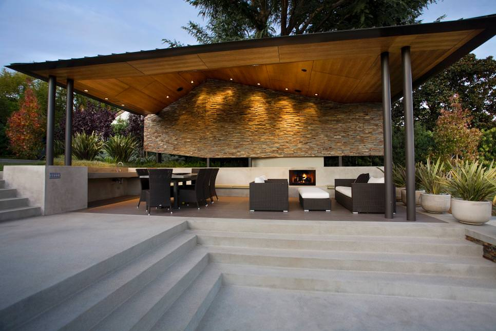 Asymmetrical Patio Cover Design