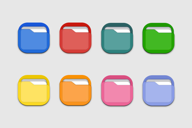 Unique Icons with 8 Different Colours