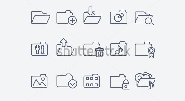 Grey Colour Folder Icons