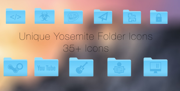 30 Unique Folder Icons Set