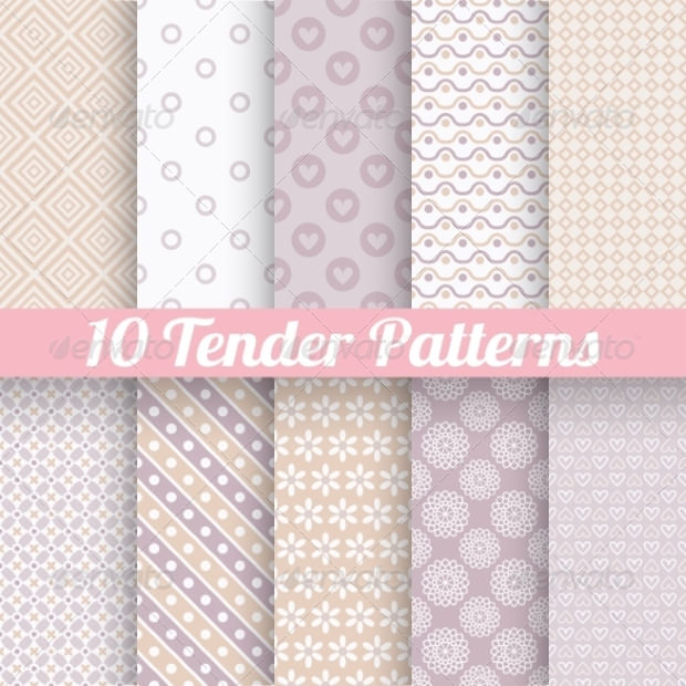 pastel vector seamless patterns