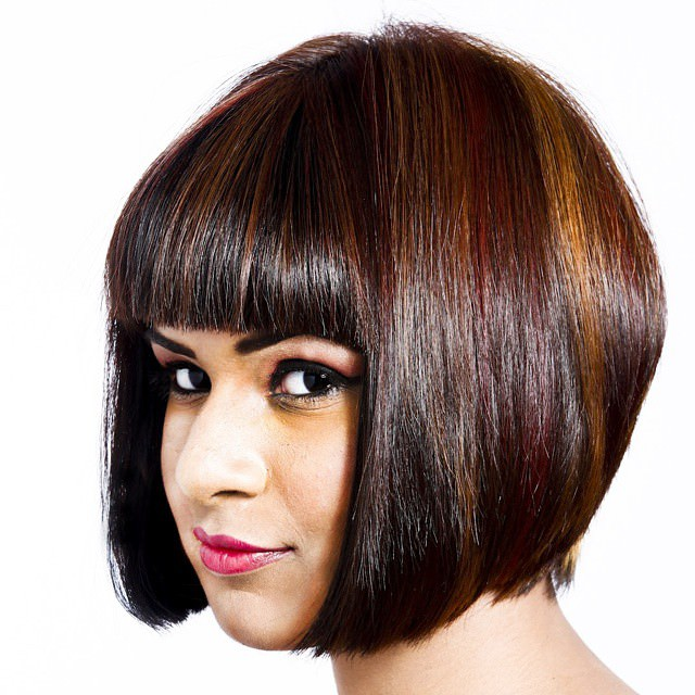 beautiful simple angled bob haircut