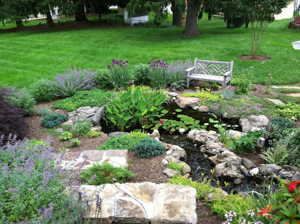 tiny backyard pond design