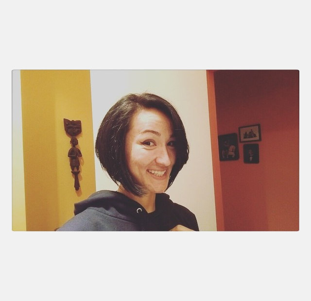 modish angled bob haircut