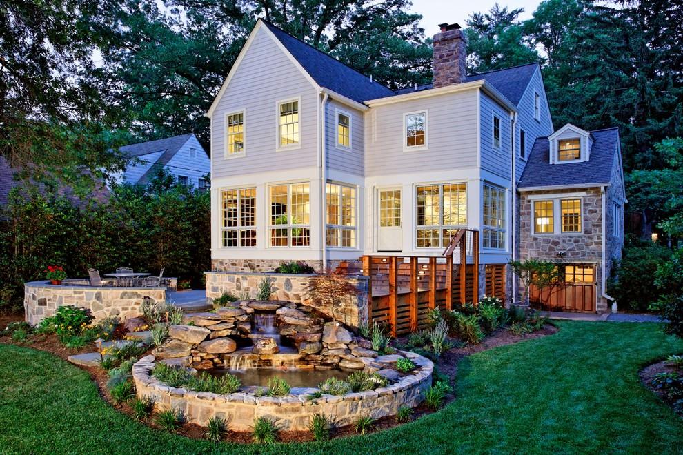 exterior decor backyard pond design