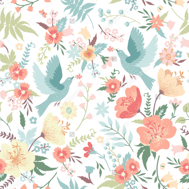 Cute vector seamless pattern